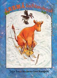 Lehmä kelkkamäessä