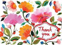 Kim Parker Floral Thank You Glitz Notecards