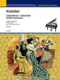 Liebesfreud * Liebeslied * Schon Rosmarin: Piano Duet