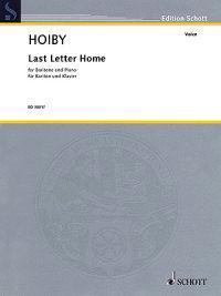 Last Letter Home: For Baritone and Piano/Fur Bariton Und Klavier