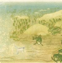 10 vykort med kuvert. Simma lugnt, mörten Maud