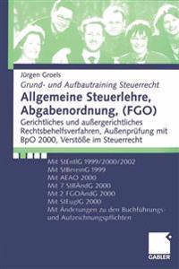 Allgemeine Steuerlehre, Abgabenordnung, Fgo