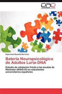Bateria Neuropsicologica de Adultos Luria-DNA