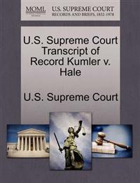 U.S. Supreme Court Transcript of Record Kumler V. Hale
