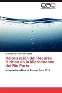Valorizacion del Recurso Hidrico En La Microcuenca del Rio Paria