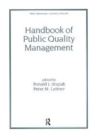 Handbook of Public Quality Management
