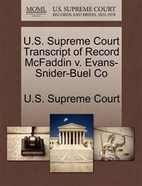 U.S. Supreme Court Transcript of Record McFaddin V. Evans-Snider-Buel Co