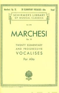 20 Elementary and Progressive Vocalises, Op. 15: Low Voice