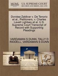 Dorotea Zaldivar V. de Tenorio et al., Petitioners, V. Charles Lavell Lightsey et al. U.S. Supreme Court Transcript of Record with Supporting Pleadings