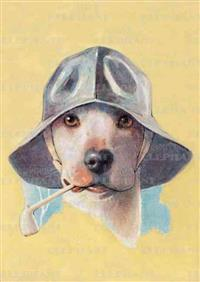 Dog in Hat with Pipe - Friendship Greeting Card