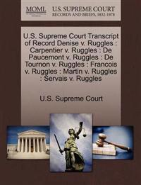 U.S. Supreme Court Transcript of Record Denise V. Ruggles