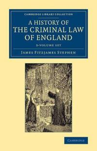 A History of the Criminal Law of England Set