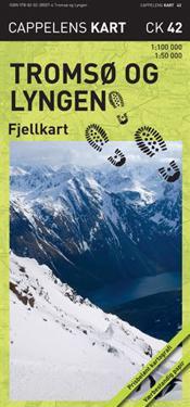 Tromsø og Lyngen Fjellkart Cappelen CK42 : 1:50000-1:100000
