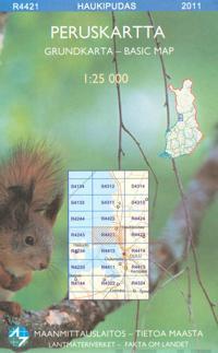 Maastokartta Q4421 Haukipudas 1:25 000