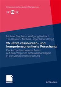 25 Jahre Ressourcen- Und Kompetenzorientierte Furschung