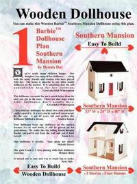 Barbie Dollhouse Plan Southern Mansion