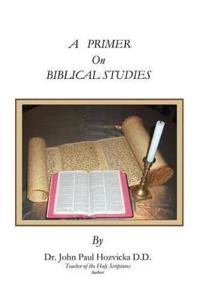 A Primer on Biblical Studies