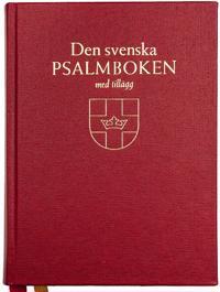 Den svenska psalmboken med tillägg och ny bönbok (bänkpsalmbok - röd)