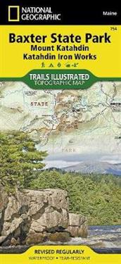 National Geographic Trails Illustrated Topographic Map Baxter State Park / Mount Katahdin, Katahdin Iron Works