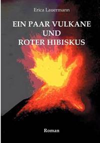 Ein Paar Vulkane Und Roter Hibiskus