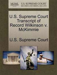 U.S. Supreme Court Transcript of Record Wilkinson V. McKimmie