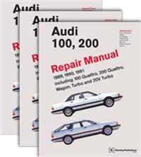 Audi 100, 200 Official Factory Repair Manual 1989, 1990, 1991 Including 100 Quattro, 200 Quattro, Wagon, Turbo and 20V Turbo