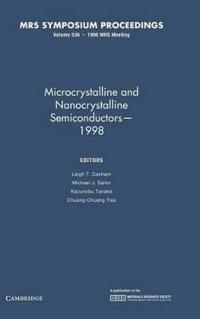 MRS Proceedings Microcrystalline and Nanocrystalline Semiconductors - 1998