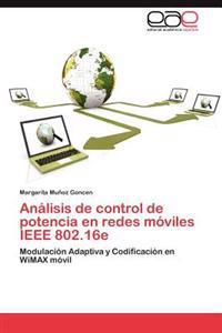 Analisis de Control de Potencia En Redes Moviles IEEE 802.16e