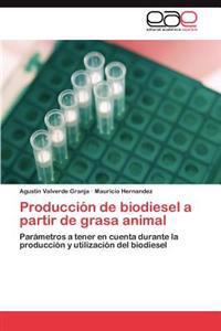 Produccion de Biodiesel a Partir de Grasa Animal