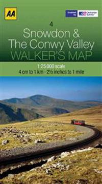 Aa Snowdon & Conwy Valley Walker's Map