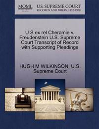 U S Ex Rel Cheramie V. Freudenstein U.S. Supreme Court Transcript of Record with Supporting Pleadings