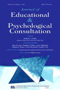 Journal of Educational and Psychological Consultation