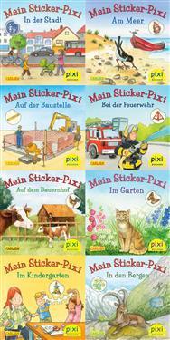 Pixi-Serie Nr. 199: Meine Sticker-Pixis. 64 Exemplare