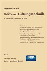 H. Rietschels Lehrbuch Der Heiz- Und Luftungstechnik