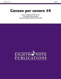 Canzon Per Sonare #4: Score & Parts