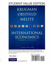 International Economics: Theory & Policy: Student Value Edition
