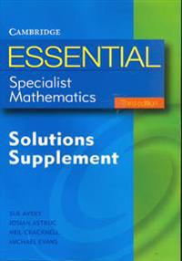 Essential Specialist Mathematics Solutions Supplement