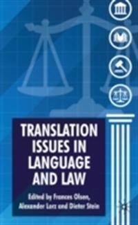 Translation Issues in Language and Law