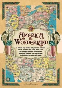America the Wonderland Map, 1941