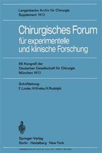 Chirurgisches Forum F�r Experimentelle Und Klinische Forschung