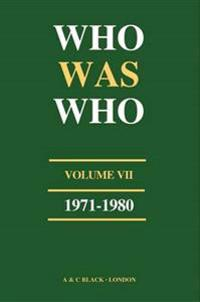 Who Was Who (1971-1980)