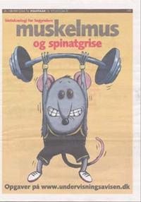 Muskelmus og spinatgrise