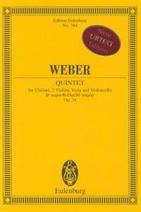Quintet in B-Flat Major, Op. 34: Study Score