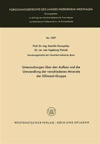 Untersuchungen Über Den Aufbau Und Die Umwandlung Der Verschiedenen Minerale Der Sillimanit-gruppe
