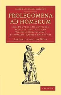 Prolegomena Ad Homerum