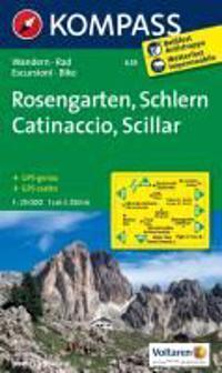 Rosengarten / Catinaccio / Schlern / Sciliar 1 : 25 000
