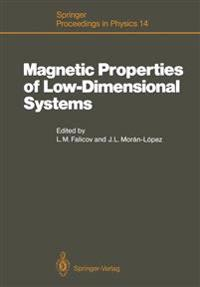 Magnetic Properties of Low-Dimensional Systems