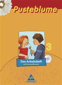 Pusteblume. Das Sprachbuch 3. Arbeitsheft mit Lernsoftware. Mitte / Nord