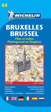 Michelin Map Brussels #44