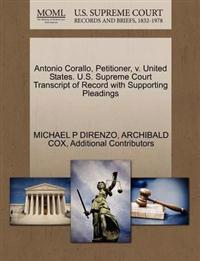 Antonio Corallo, Petitioner, V. United States. U.S. Supreme Court Transcript of Record with Supporting Pleadings